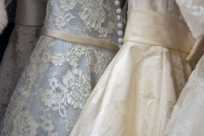 Wedding dresses are cheaper to rent than buy.